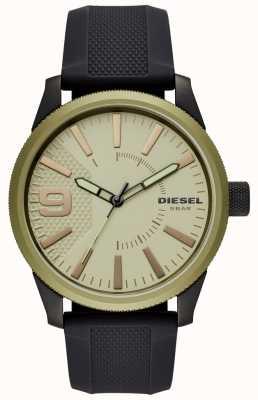 Diesel Bracelet en caoutchouc noir pour montre en cuir DZ1875