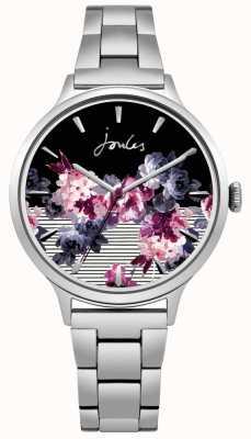 Joules Bracelet en acier inoxydable pour femme avec cadran floral JSL002SM