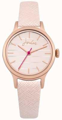 Joules Bracelet en cuir rose pour femme lisbeth cadran or rose JSL012PRG