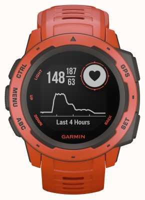Garmin Bracelet en silicone pour extérieur GPS rouge feu Instinct 010-02064-02