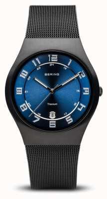 Bering Titane | cadran bleu noir brossé 11937-227