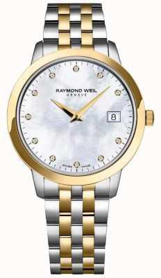 Raymond Weil Bracelet bicolore pour femme avec cadran en diamant toccata 5388-STP-97081