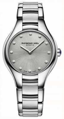 Raymond Weil Bracelet en acier inoxydable serti de diamants pour femmes noemia 5132-ST-65081
