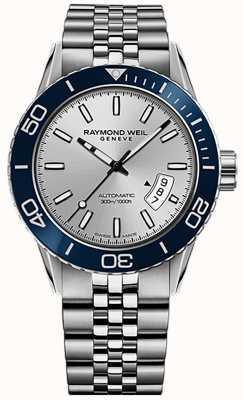 Raymond Weil Bracelet en acier inoxydable pour plongeur automatique indépendant 2760-ST4-65001