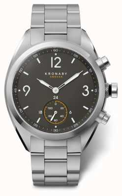 Kronaby Smartwatch cadran noir en acier inoxydable bluetooth 41 apex hommes A1000-3113