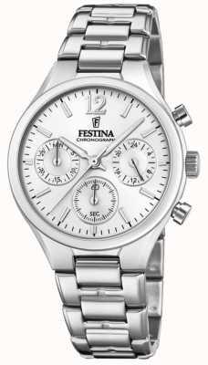 Festina Womens boyfriend chronographe en acier inoxydable F20391/1