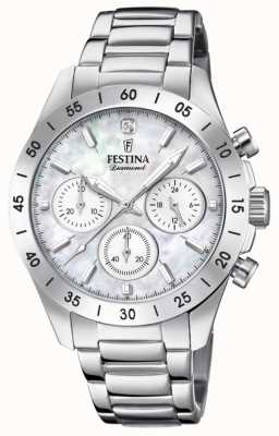 Festina Bracelet acier inoxydable chronographe femme F20397/1