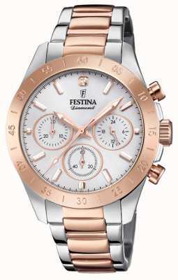 Festina Womens copain chronographe deux tons F20398/1