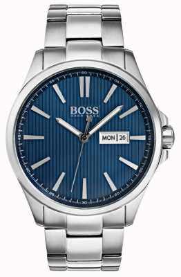 Hugo Boss Mens the james bracelet en acier inoxydable cadran bleu 1513533