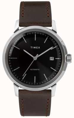 Timex Marlin automatique | bracelet en cuir marron | TW2T230007U