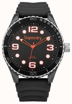 Superdry Bracelet en silicone noir | étui noir SYG163BA