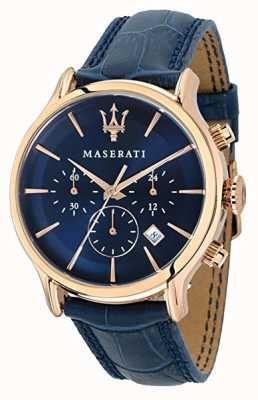 Maserati Epoca Homme 42mm | cadran bleu | bracelet en cuir bleu R8871618007
