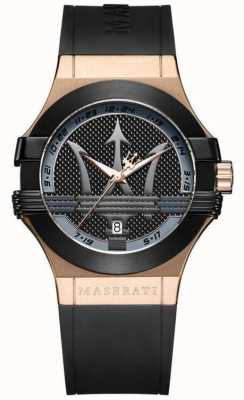 Maserati Analogue de potenza homme | cadran noir | bracelet en cuir noir R8851108002