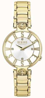 Versus Versace Femmes Kristenhof | cadran argenté | acier inoxydable doré VSP490618