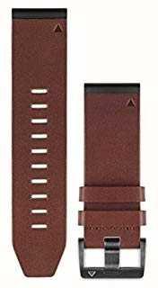 Garmin Bracelet en cuir marron quickfit 26mm fenix 5x / tactix charlie 010-12517-04