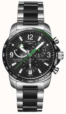Certina | ds podium | chronographe GMT | acier carbone noir | C0016392220702