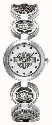 Harley Davidson Montre-bracelet à breloques pour femmes | acier inoxydable argenté 76L145
