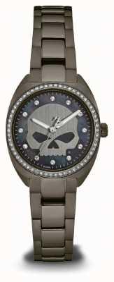 Harley Davidson Femmes de la collection marée noire | ensemble de cristaux cadran | 78L124