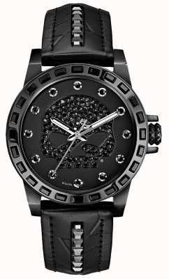 Harley Davidson Femmes seulement le temps | cadran noir | bracelet en cuir noir 78L126