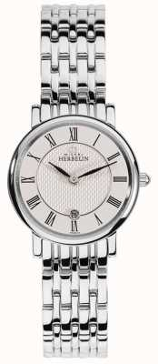 Michel Herbelin Femme epsilon | cadran blanc | bracelet en acier inoxydable 16945/B01