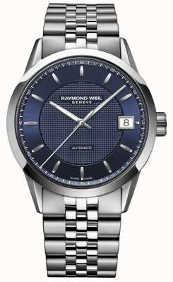 Raymond Weil Hommes | pigiste bleu foncé | montre automatique 2740-ST-50021