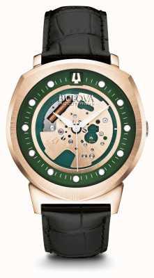 Bulova Bracelet accutron ii pour homme avec cadran vert plaqué or rose 97A122