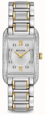 Bulova Diamant en argent pour femme, quartz 98R227