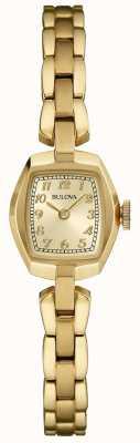 Bulova Quartz plaqué or pour femme 97L155