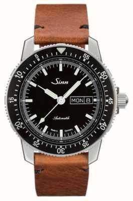 Sinn Montre pilote classique St sa i cuir de vachette vintage 104.010-BL50205002401A