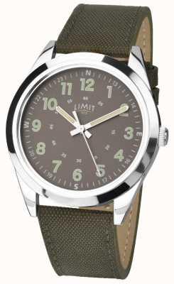 Limit Hommes | montre de style militaire | bracelet vert kaki et cadran vert 5951