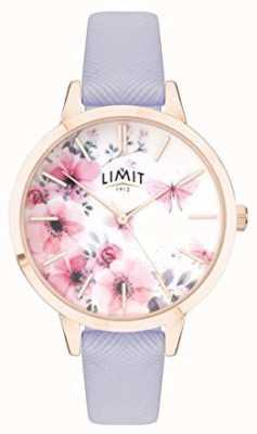 Limit | montre de jardin secret pour femmes | cadran rose et blanc | strp violet 60022