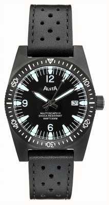 Alsta Nautoscaph iii | bracelet en cuir noir | étui ip noir NAUTOSCAPH III