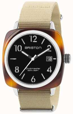 Briston Cadran noir en acétate tortue noir Hms 13240.SA.T.1.NK
