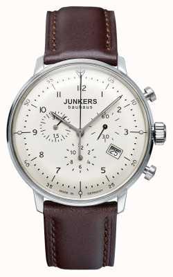 Junkers Bracelet cuir homme bauhaus chronographe marron 6086-5