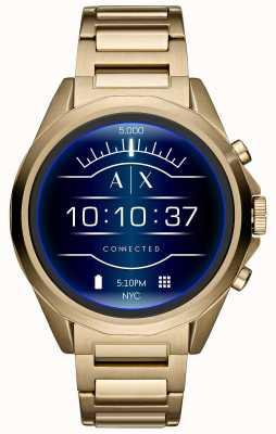 Armani Exchange Connecté écran tactile smartwatch plaqué or pvd AXT2001