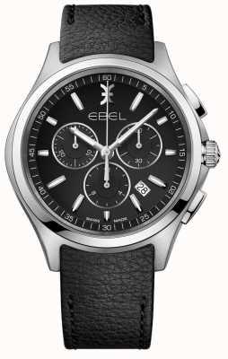 EBEL | montre homme chronographe | bracelet en cuir noir | 1216343