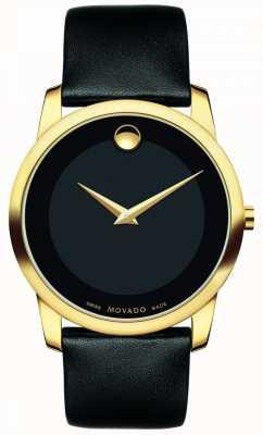 Movado | montre classique de musée pour hommes | cuir noir | 0606876