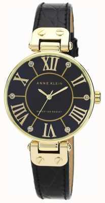 Anne Klein | montre femme signature | noir et or | AK-N1396BMBK