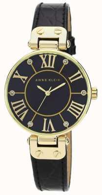 Anne Klein | montre femme signature | noir et or | AK/N1396BMBK