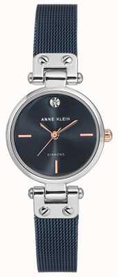 Anne Klein | montre de câble de femmes | ton marine | AK-N3003BLRT