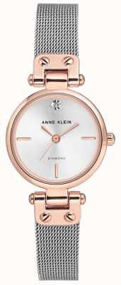 Anne Klein | montre de câble de femmes | ton argent | AK-N3003SVRT