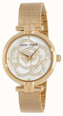 Anne Klein | montre fleur pour femme | ton or | AK-N3102MPGB