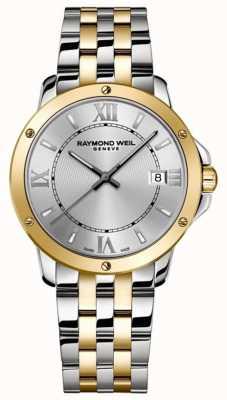 Raymond Weil Tango pour hommes   bracelet en acier inoxydable deux tons   cadran argenté 5591-STP-00308
