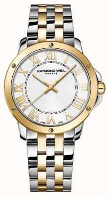 Raymond Weil Tango pour hommes | bracelet en acier inoxydable deux tons | cadran blanc 5591-STP-00308