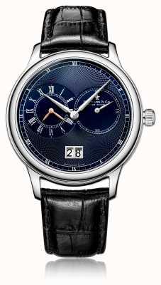 Dreyfuss Montre homme chronographe quartz noire en cuir DGS00120/05