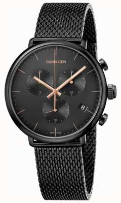 Calvin Klein | mens high black acier inoxydable noir | chronographe | K8M27421