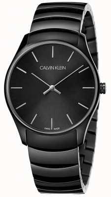 Calvin Klein | mens classique de taille moyenne | bracelet en acier inoxydable noir | K4D21441