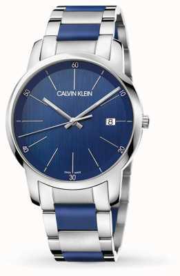 Calvin Klein | extension de la ville pour hommes | acier inoxydable deux tons | cadran bleu K2G2G1VN