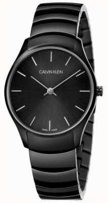Calvin Klein | classique aussi regarder | bracelet en acier inoxydable noir | K4D22441