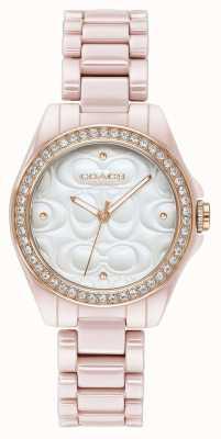 Coach | montre de sport moderne pour femme | rose avec visage blanc | 14503256
